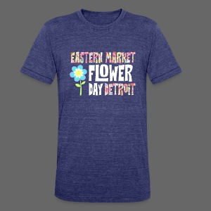Eastern Market - Flower Day - Unisex Tri-Blend T-Shirt by American Apparel
