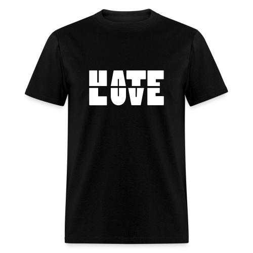 Hate Love Men's T-Shirt - Men's T-Shirt