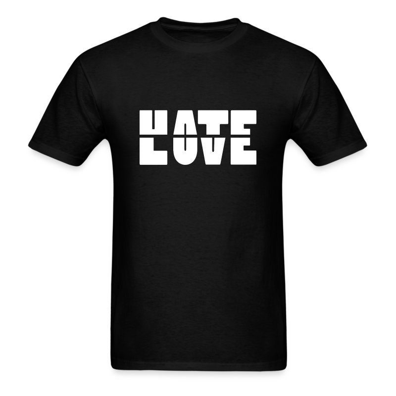 Hate Love Men's T-Shirt - Men's T-Shirt