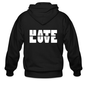 Hate Love Zip Hoodies - Men's Zip Hoodie