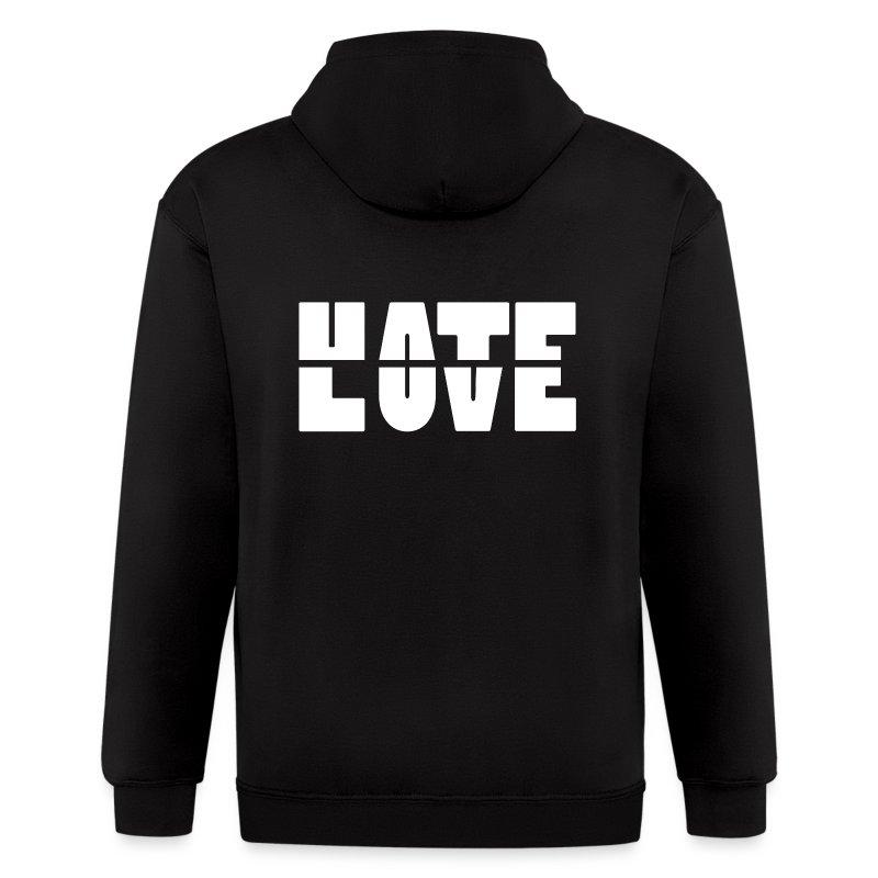 Hate Love Zip Hoodies - Men's Zip Hoodie