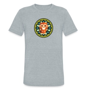 Monkey & Flower Unisex Tri-Blend T-Shirt  - Unisex Tri-Blend T-Shirt by American Apparel
