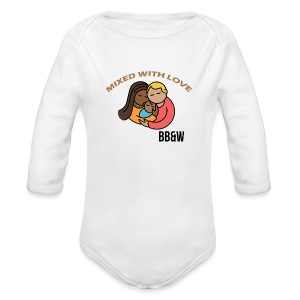 mixed with love Long Sleeve Baby Bodysuit - Long Sleeve Baby Bodysuit