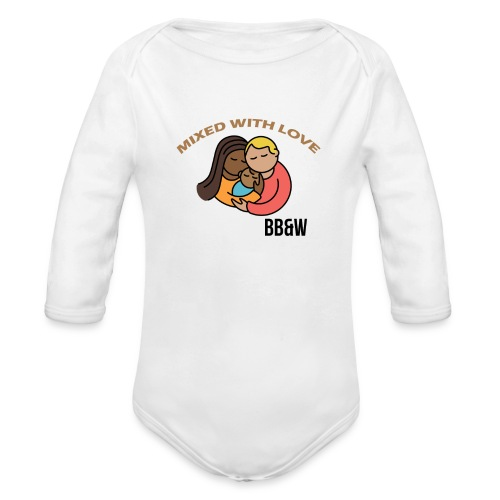 mixed with love Long Sleeve Baby Bodysuit - Organic Long Sleeve Baby Bodysuit