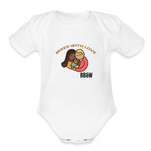 Mixed with Love Short Sleeve Baby Bodysuit - Organic Short Sleeve Baby Bodysuit
