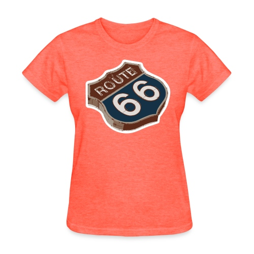 Route 66 Retro Highway Sign - Women's T-Shirt