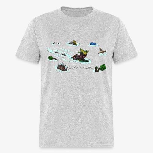 Don't Feed The Crocogator (black text) - Men's T-Shirt