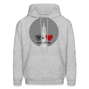Eye Love New York Empire State Building - Men's Hoodie