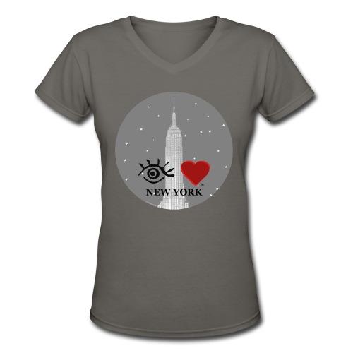 Eye Love New York Empire State Building - Women's V-Neck T-Shirt