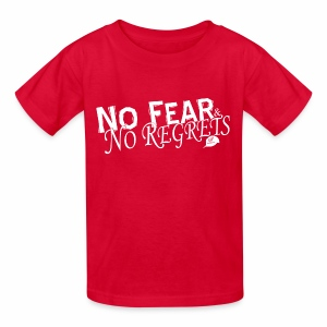 No Fear and No Regrets Kids Tee - Kids' T-Shirt