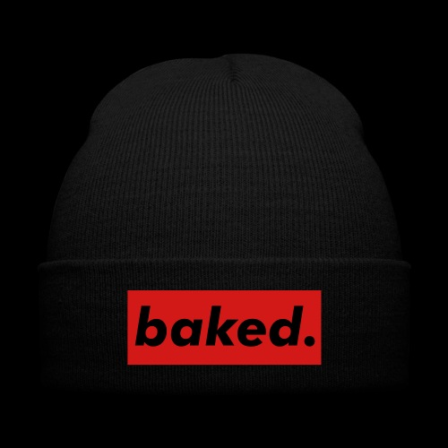Baked - Knit Cap with Cuff Print