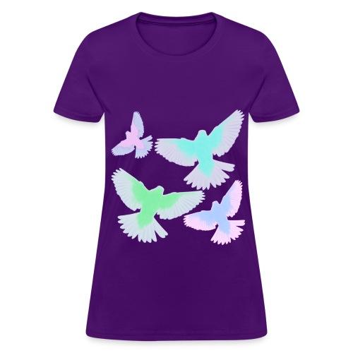 Neon Birds - Women's T-Shirt