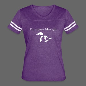 Capital I'm a great lakes girl. - Women's Vintage Sport T-Shirt
