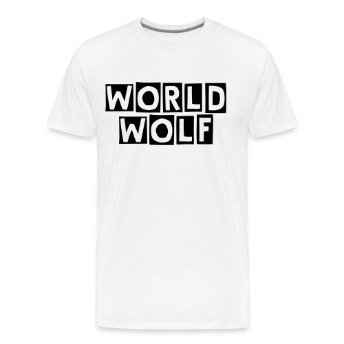 Regular Front Print World Wolf - Men's Premium T-Shirt