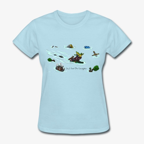 Don't Feed The Crocogator (black text) - Women's T-Shirt