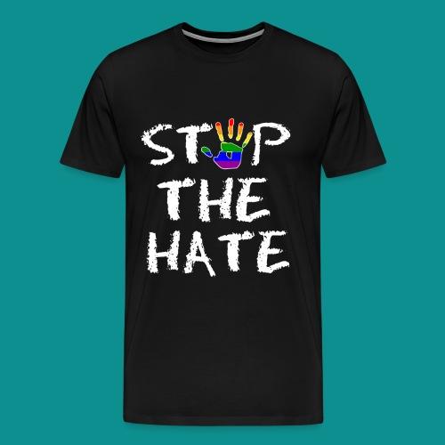 Gay Pride Stop the Hate - Men's Premium T-Shirt