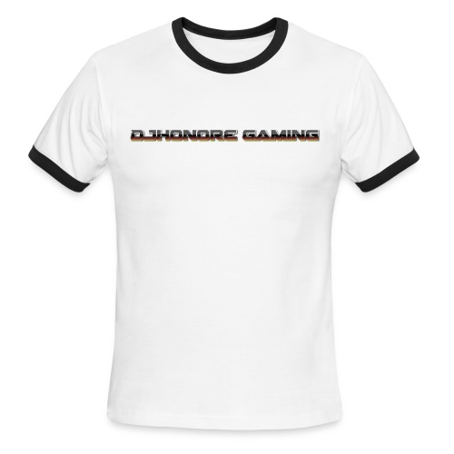 Men's Ringer T-Shirt|Logo Front - Men's Ringer T-Shirt