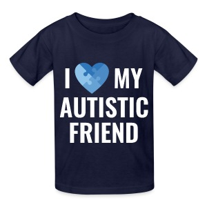 I love my Autistic Friend - Kids' T-Shirt