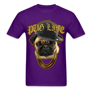 Pug Life Men's Purple T-Shirt - Men's T-Shirt