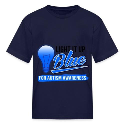 Light it Up BLUE (Kids) - Kids' T-Shirt