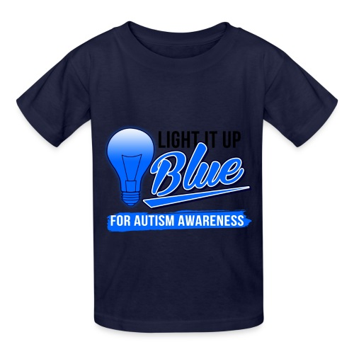 Light it Up BLUE (Kids) - Kids' T-Shirt