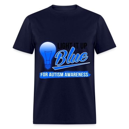 Light it Up BLUE (Mens) - Men's T-Shirt