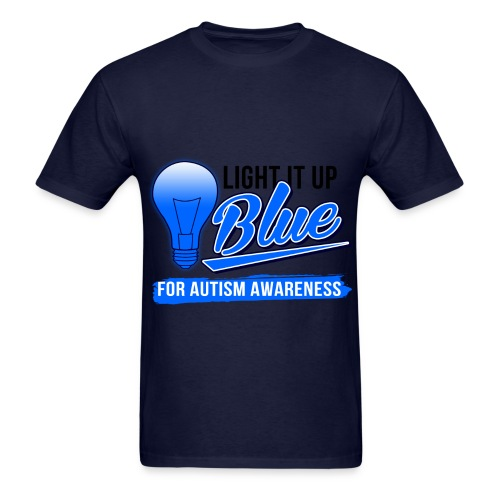 Light it Up BLUE (Mens) - Men's T-Shirt