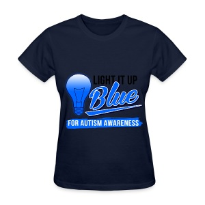 Light it Up BLUE (Womens) - Women's T-Shirt