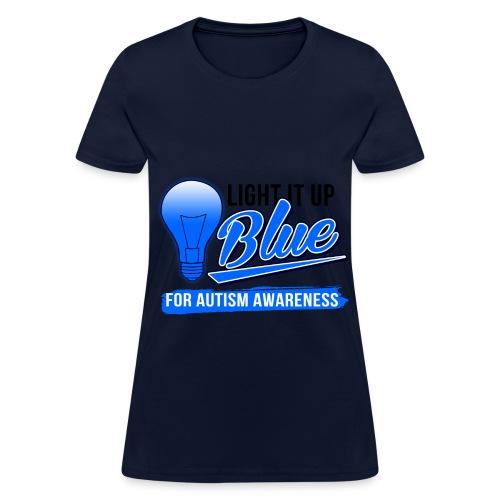 Light it Up BLUE (Womens) - Women's T-Shirt