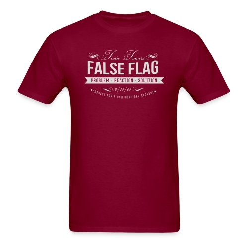 Twin Towers False Flag - Men's T-Shirt
