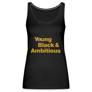 YBA Women's Tank - Black and Gold - Women's Premium Tank Top