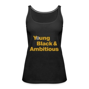 YBA Women's Tank - Black and Gold - Women's Premium Tank Top