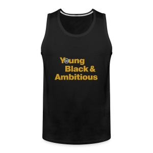 YBA Men's Tank - Black and Gold - Men's Premium Tank