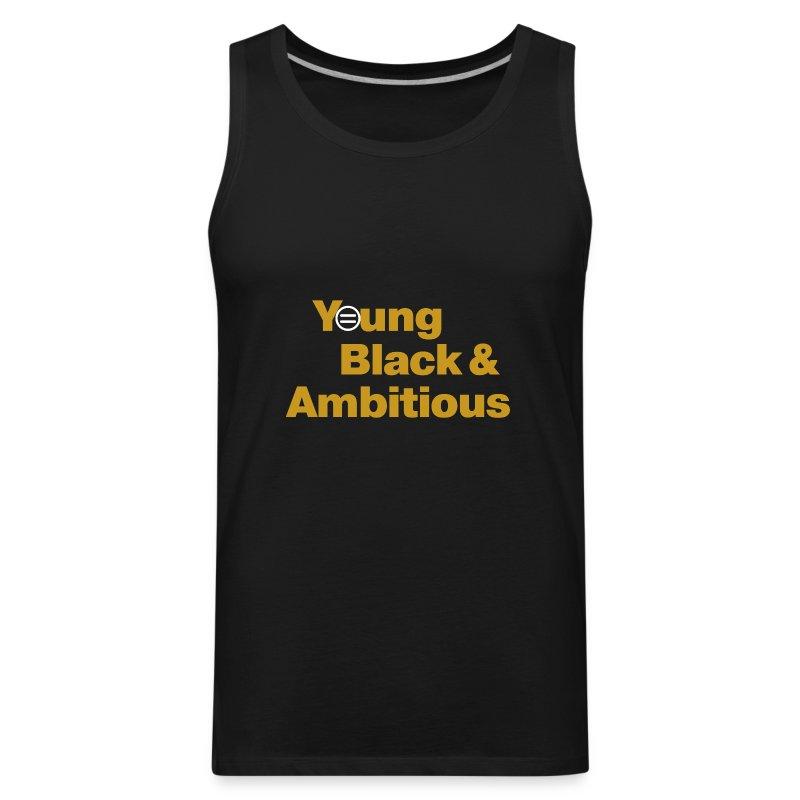 YBA Men's Tank - Black and Gold - Men's Premium Tank