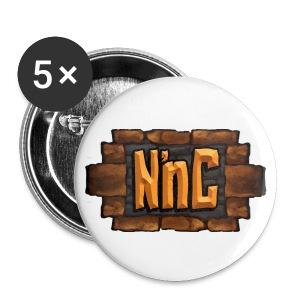 Nook 'n Cranny Logo Button BIG - Large Buttons