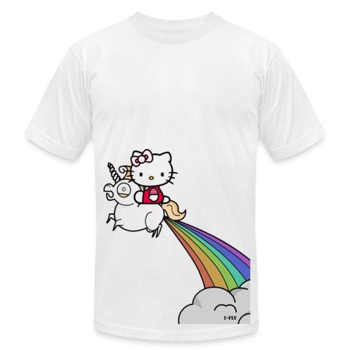 Kitty on a Unicorn - Men's Fine Jersey T-Shirt
