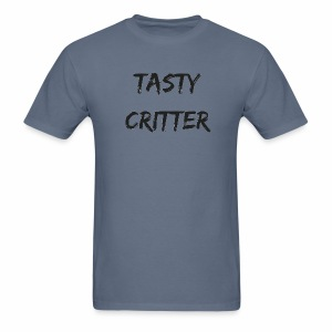 NEW Tasty Critter Men's Shirt (black lettering) - Men's T-Shirt