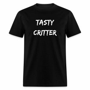 NEW Tasty Critter Men's Shirt (white lettering) - Men's T-Shirt