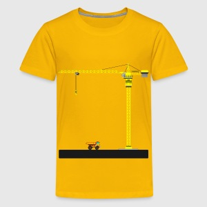 TOWER CRANE - Kids' Premium T-Shirt