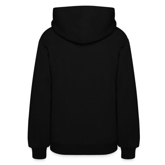Women's Blackety Black Cotton/Poly Blend Hoodie (white)