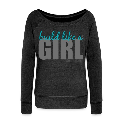 Women's Swoop Neck Sweatshirt - Women's Wideneck Sweatshirt