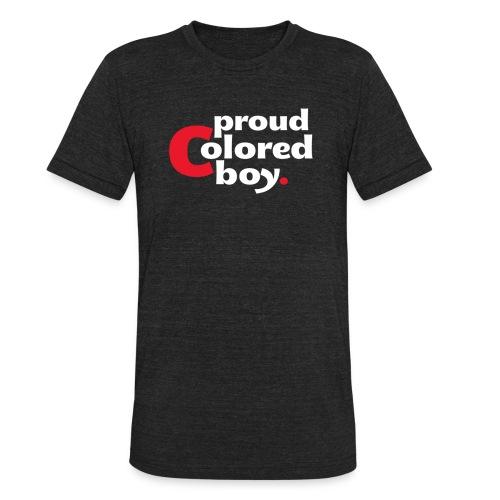 Men's Proud Colored Boy Tri-Blend Shirt - Unisex Tri-Blend T-Shirt