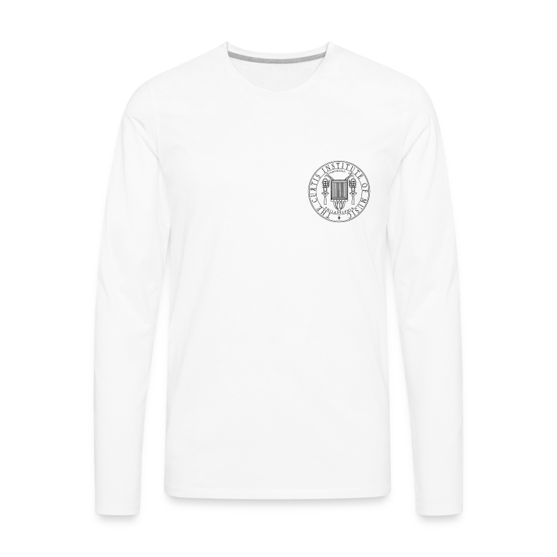 Men 39 s premium long sleeve t shirt white men 39 s premium Mens long sleeve white t shirt