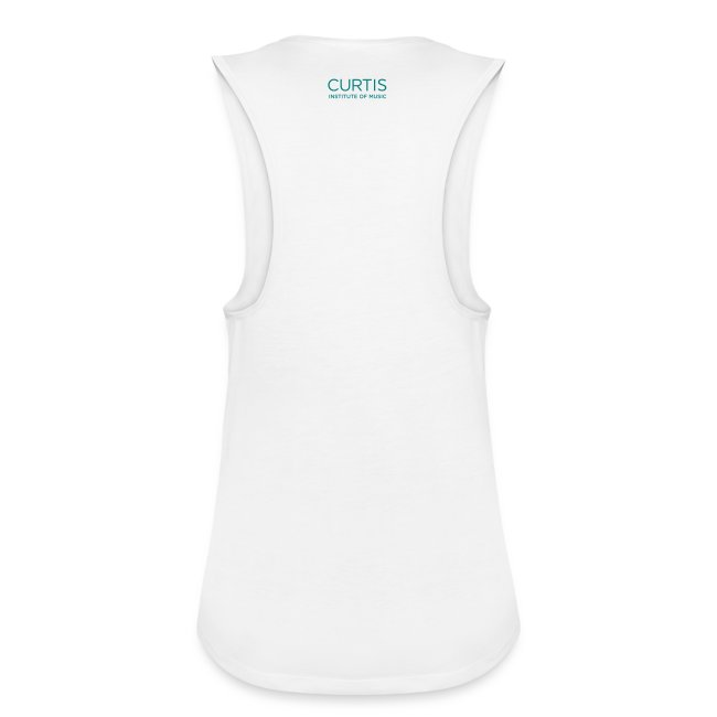 Women's Flowy Muscle Tank by Bella (White)