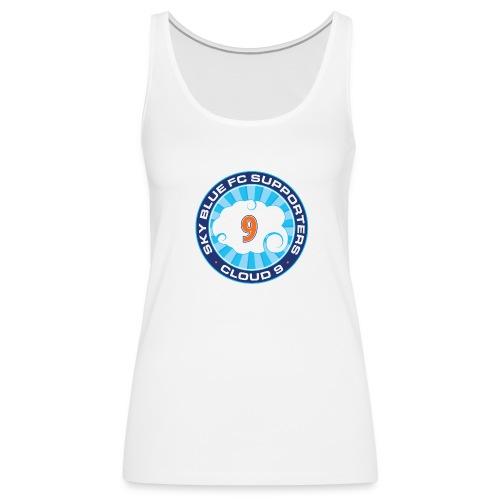 Cloud 9 Logo Women's Tank – White - Women's Premium Tank Top