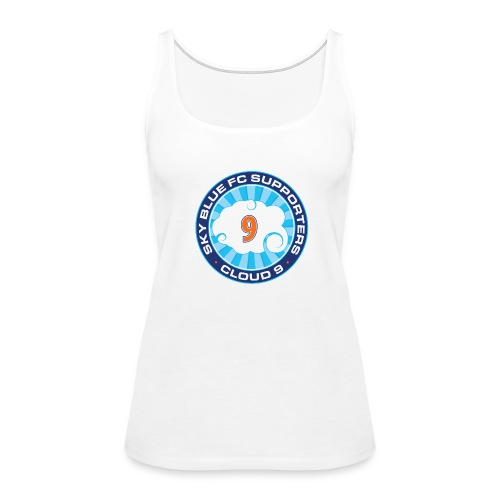 Cloud 9 Logo Women's Tank – White - Women's Premium Tank Top