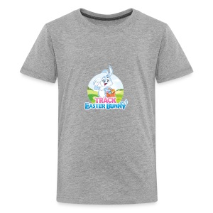 Kids' Premium T-Shirt w/Track Easter Bunny logo and mascot - Kids' Premium T-Shirt