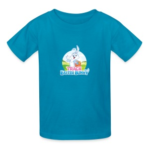 Kids' T-Shirt w/Track Easter Bunny logo and mascot - Kids' T-Shirt