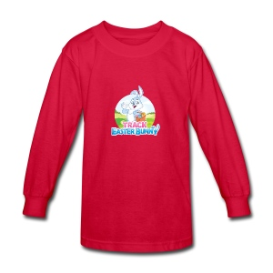 Kids' Long Sleeve T-Shirt w/Track Easter Bunny logo and mascot - Kids' Long Sleeve T-Shirt