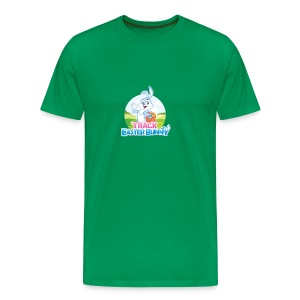 Men's Premium T-Shirt w/Track Easter Bunny logo and mascot - Men's Premium T-Shirt